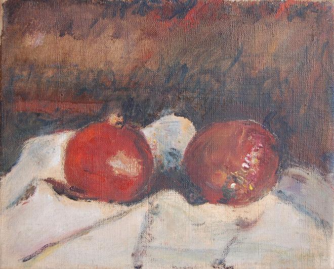 Arturo Tosi - Melograni, natura morta, 1948, olio su tavola, cm 40x50 ©Frauke Stenz