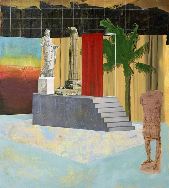 Paolo De Biasi - In nessun modo ancora, 2017, acrilico su tela, 100x90 cm