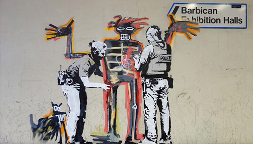 Banksy - Tributo a Basquiat