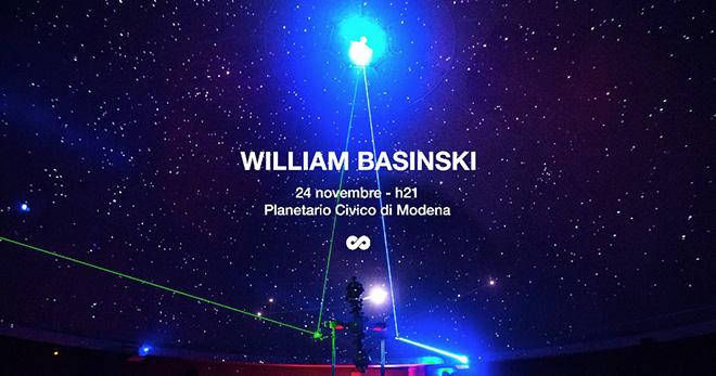 William Basinski - A Shadow In Time, Planetario Civico di Modena