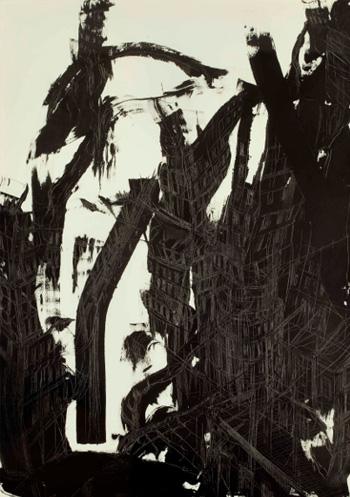 Federico Guerri - senza titolo, 2011, inchiostro su carta, cm.100x70