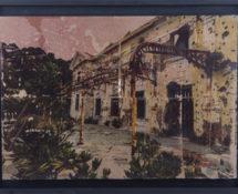 Livio Ninni - DEGRADATION, 55 x 40 cm mix media - phototransfer on iron