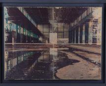 Livio Ninni - ENTRANCE, 55 x 40 cm, mix media - phototransfer on iron