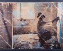 Livio Ninni - QUIETLY, 85 x 50 cm, mix media - phototransfer on wood