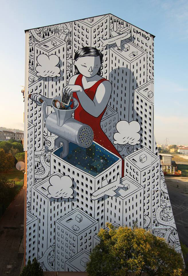 Millo - Dream, murale, Fontanelle (Pescara)
