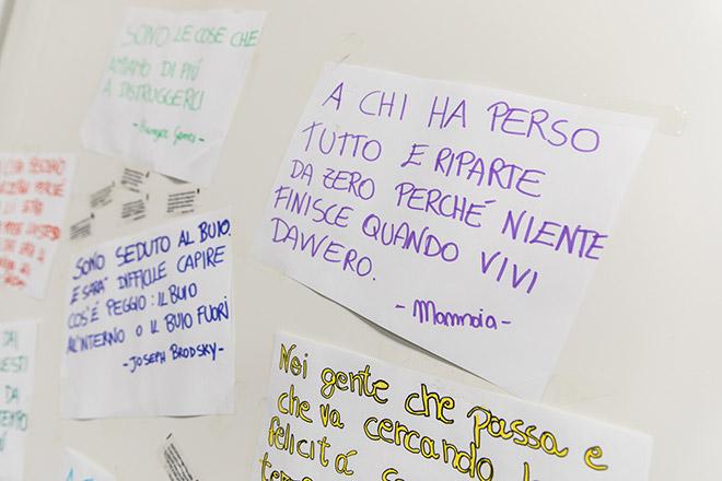 RISCATTI Onlus - Amatrice, muro di messaggi