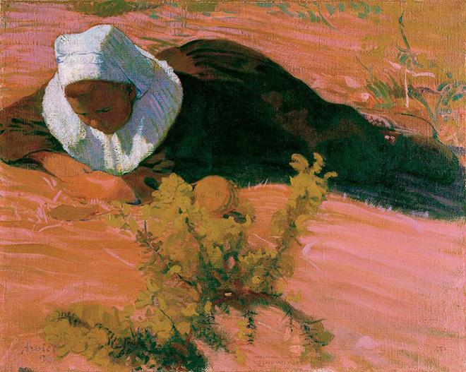 Cuno Amiet - 1893.11 Ragazzo bretone (Bretonischer Knabe) 1893, olio su tela, 65 x 80 cm. Kunsthaus Zürich, Vereinigung Zürcher Kunstfreunde © M. + D. Thalmann, Herzogenbuchsee