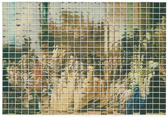 Maurizio Galimberti - Gran ballo del Tiepolo Ready Made 2017, 179x128cm - es.2/3, Stampa museale su tela - edizione su tela scontornata del bianco Polaroid