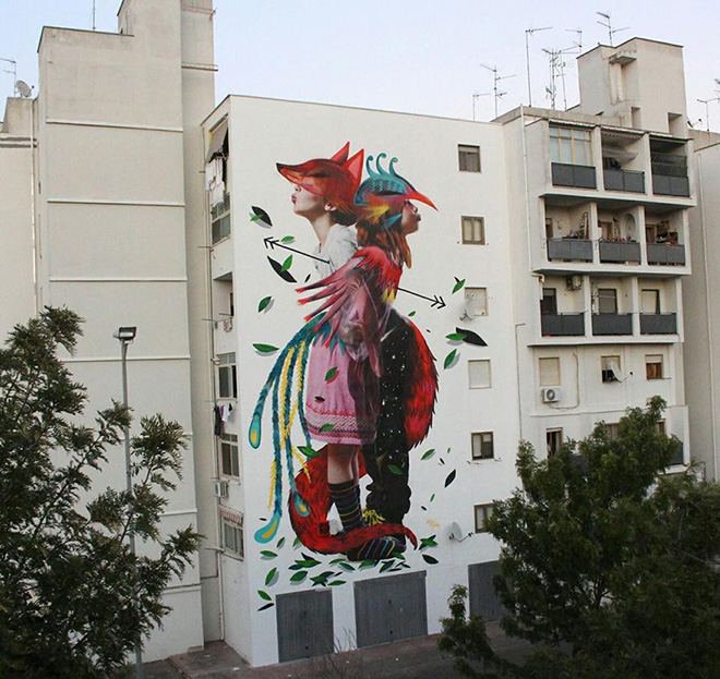 Bifido + Julieta XLF - First Fire, 167 Art Project, Street art a Lecce