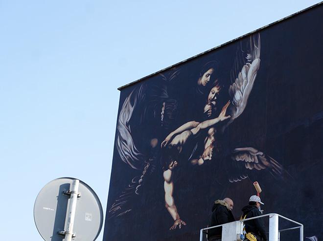 Andrea Ravo Mattoni - Le Sette opere della Misericordia del Caravaggio, Policlinico Gemelli, Roma