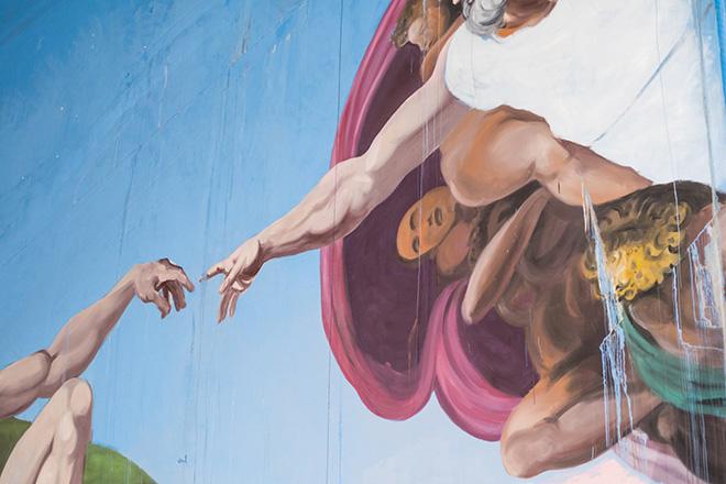 OZMO - Genesi, Street art nella cava Galleria Ravaccione, photo credit: Victor Valobonsi