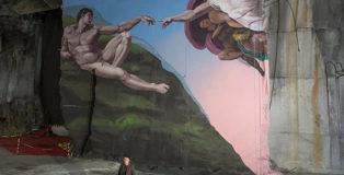 OZMO - Genesi, Street art nella cava Galleria Ravaccione, photo credit: Charles Regoli