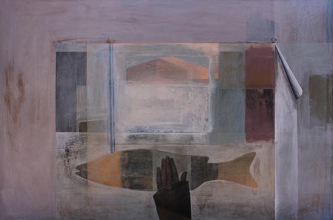 Alexandra Nadas - A halász asztala, 2017, olio su tavola, cm 70x100