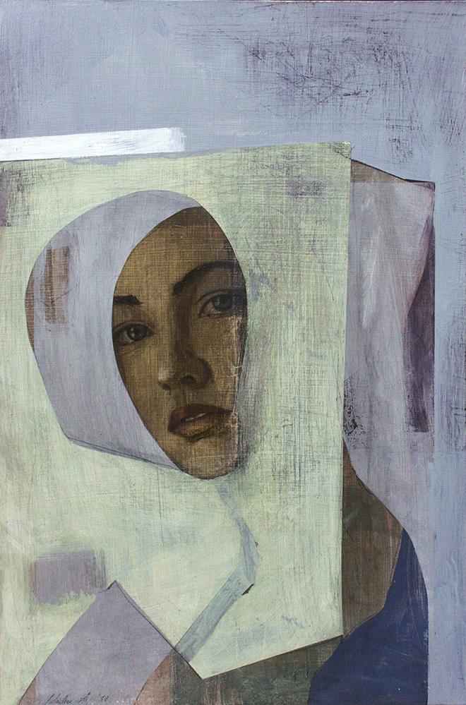 Alexandra Nadas - Profán Madonna IV, 2017, olio su tavola, cm 45x30