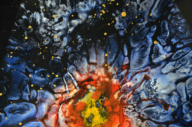 Enrico Magnani - Supernova No. 10, 2017, acrilico su cartone patinato, cm. 100x76, particolare
