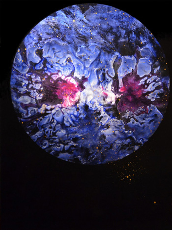 Enrico Magnani - Supernova No. 5, 2017, acrilico su cartone patinato, cm. 100x76