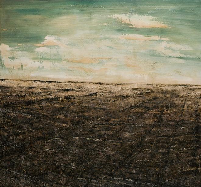 Filippo Cristini - La zona, 2017, olio e colla vinilica su tela, cm 150x160