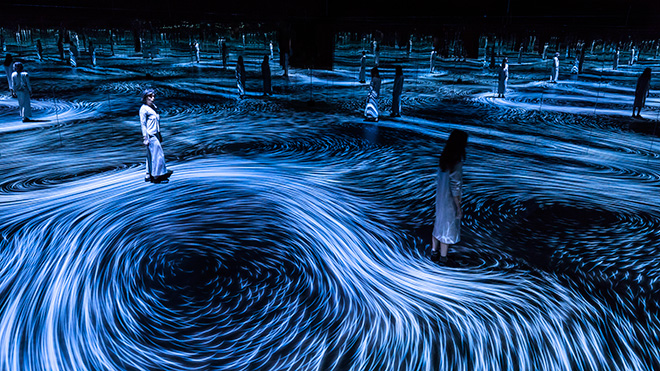 teamLab – Moving Creates Vortices and Vortices Create Movement