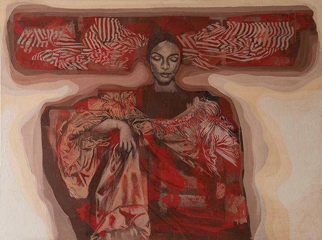 Tarik Berber - Windsor Beauties, 2017, olio su tela, cm120x160