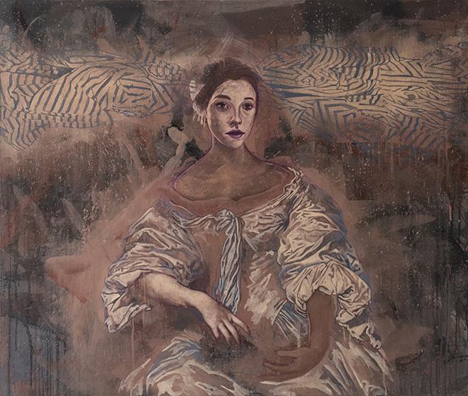Tarik Berber - serie Windsor Beauties, 2017, olio su tela, cm 110x140