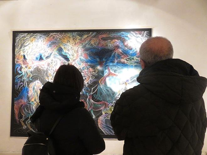 Awer - Underwater Circus, installation view, Galleria Portanova12, Bologna