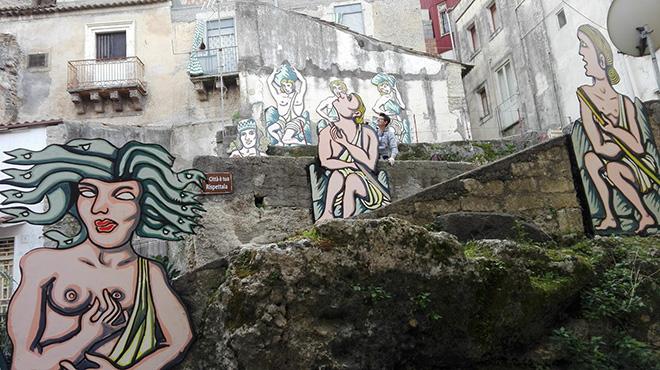 Badia Lost and Found - Lentini: arte e rigenerazione urbana. Artwork by Franco Condorelli