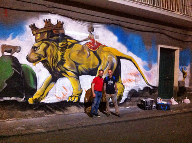 Badia Lost and Found - Lentini: arte e rigenerazione urbana. Mural by Salvatore Muscarà