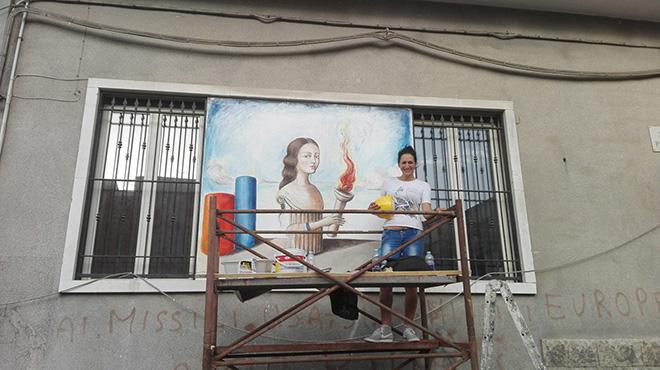 Badia Lost and Found - Lentini: arte e rigenerazione urbana. Mural by Federica Orsini