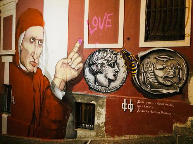 Badia Lost and Found - Lentini: arte e rigenerazione urbana. Mural by Roberto Colledoro + Corrado Inturri