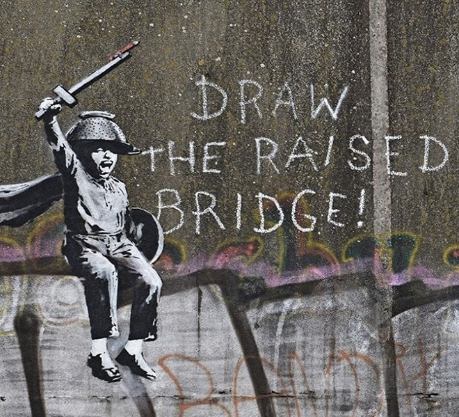 Banksy – Draw the Raised Bridge