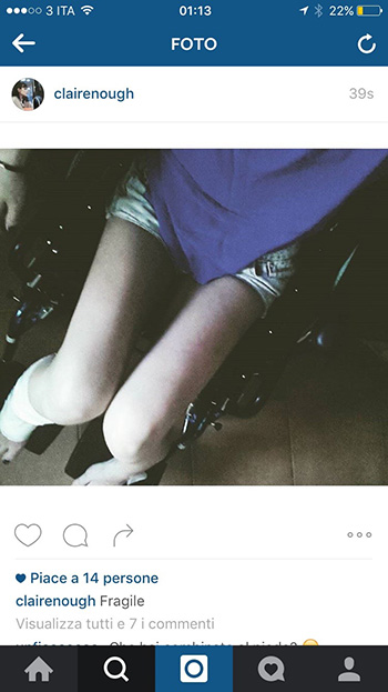Federica Sasso - clairenough Instagram profile, Sick Sad Blue