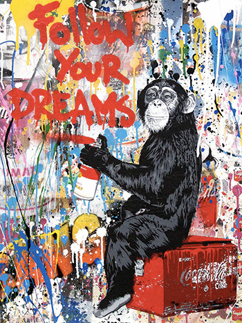 Mr. Brainwash - Everyday Life, 2017, tecnica mista su carta, cm 127x96,5