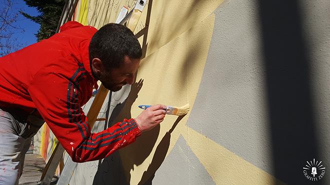 Andrea Marrapodi (Kiv) - Murales di via Folchi a Roma, Ospedale Spallanzani
