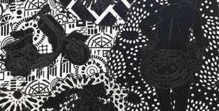 Maurizio Cannavacciuolo - Collana africana, olio su tela, 2009