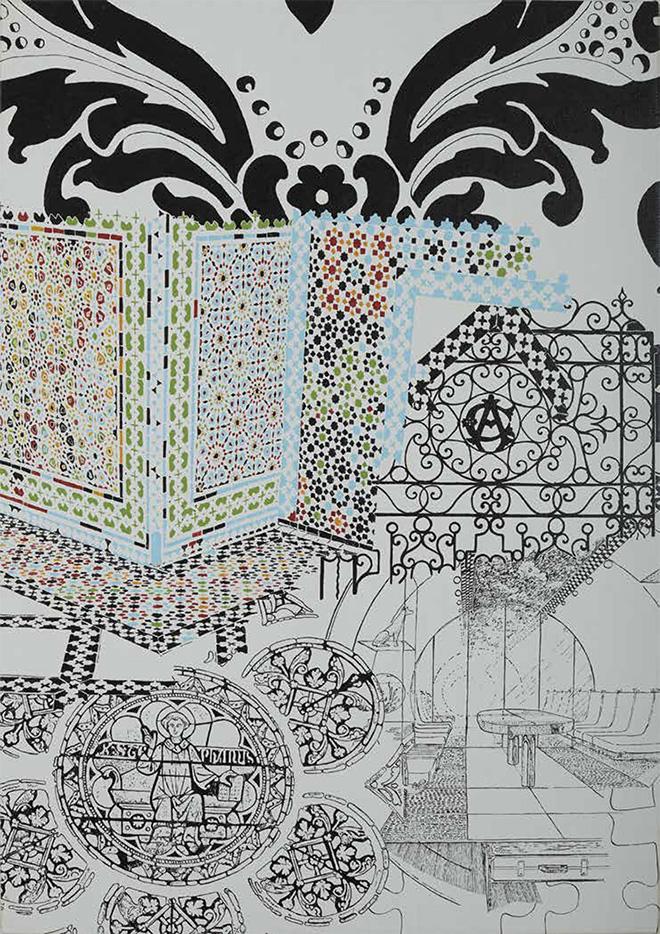 Maurizio Cannavacciuolo - Isla Venit, olio su tela, 100x70 cm, 2014