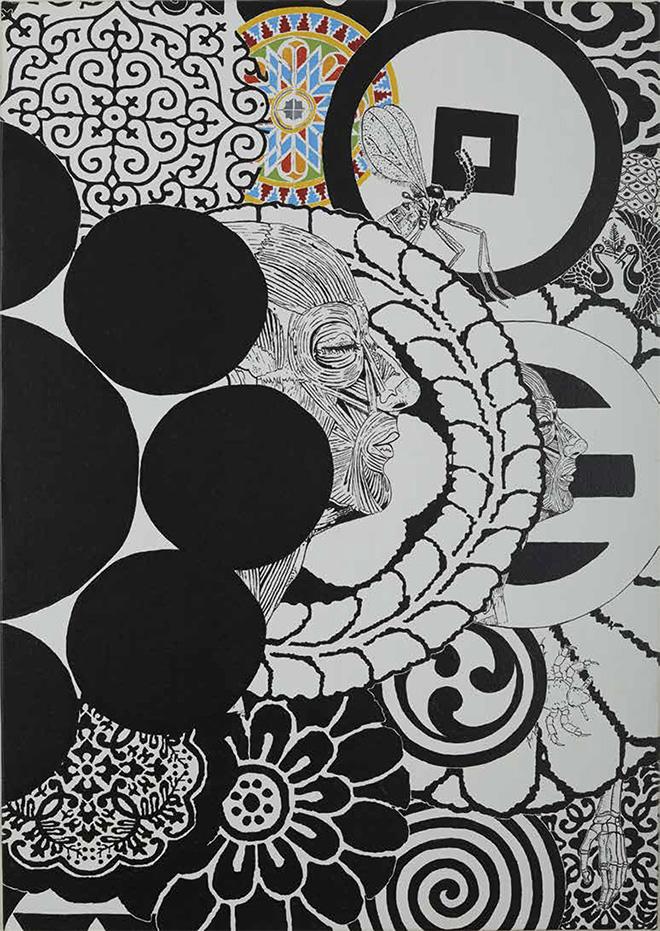 Maurizio Cannavacciuolo - Isla Ocho, olio su tela, 100x70 cm, 2014