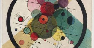 Vasily Kandinsky - Cerchi in un cerchio, 1923, olio su tela, 98.7 x 95.6 cm. Philadelphia Museum of Art, Collezione Louise e Walter Arensberg, 1950