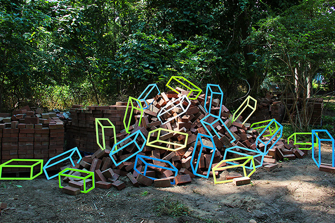 Aakash Nihalani - Bricks, 2012. ©Aakash Nihalani. Courtesy the artist and Wunderkammern Gallery