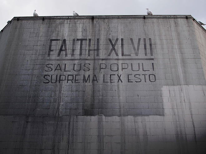 Faith47 - Salus Populi Suprema Lex Esto, mural in Skid Row, Los Angeles