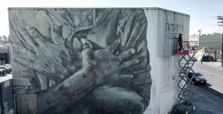Faith47 - Salus Populi Suprema Lex Esto, mural in Skid Row, Los Angeles. photo credit: COLABS