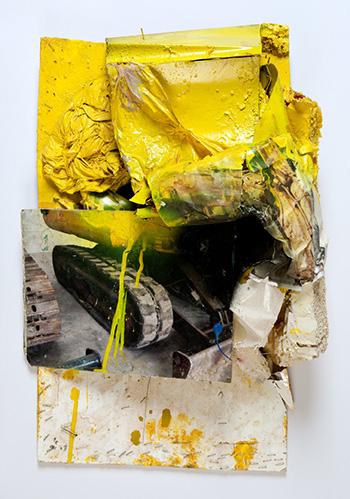 Giacomo Cossio - Grande Macchina (1), ferro, carta, smalto, 2008-2010