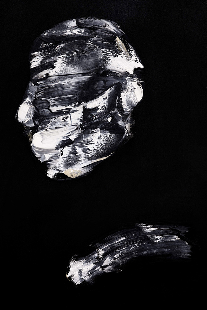 Lorenzo Puglisi - Il Grande sacrificio, 2018. Olio su tavola, 175x395 cm, particolare