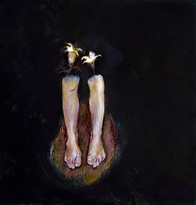 Pietro Geranzani - Ciò che è in basso, 2008, olio su tela, cm 200x190