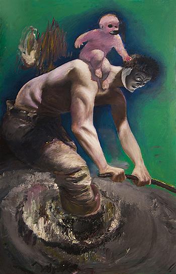 Pietro Geranzani - Met, 2007-2015, olio su tela, cm 185x115