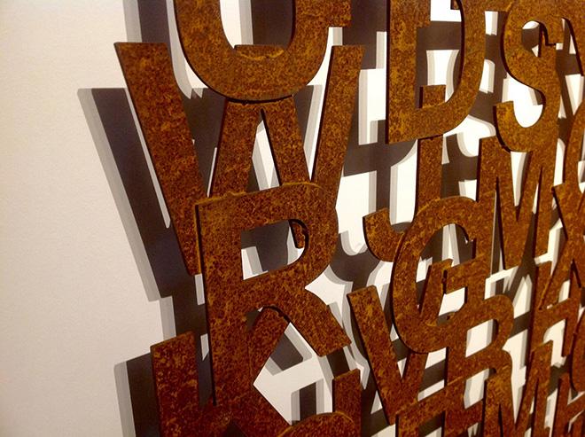 Rudy Pulcinelli - Assenze, 2018, acciaio corten, cm. 140x140, particolare