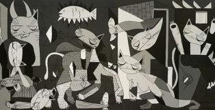 Sol Felpeto - Guernicat, 110x55, Acrylic on canvas, 2018