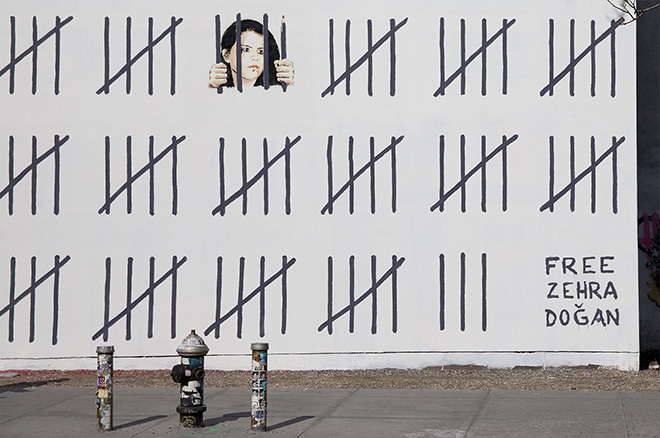 Banksy – Free Zehra Doğan