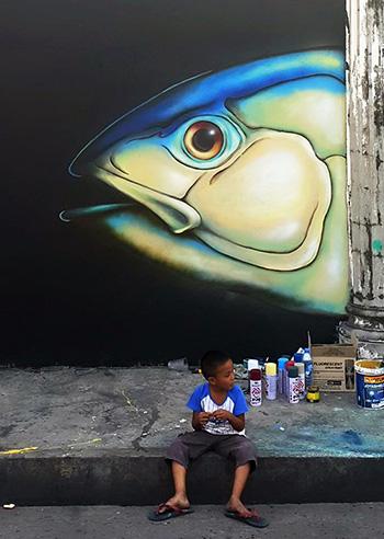 Crist Espiritu (Glitch Glitch art) - Manila Savagery