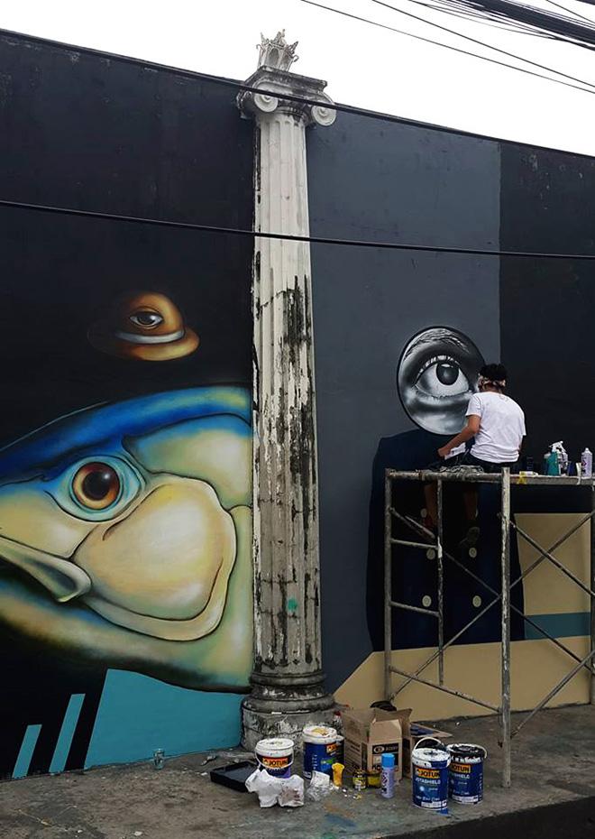 Angge Lorente (Glitch Glitch art) - Manila Savagery