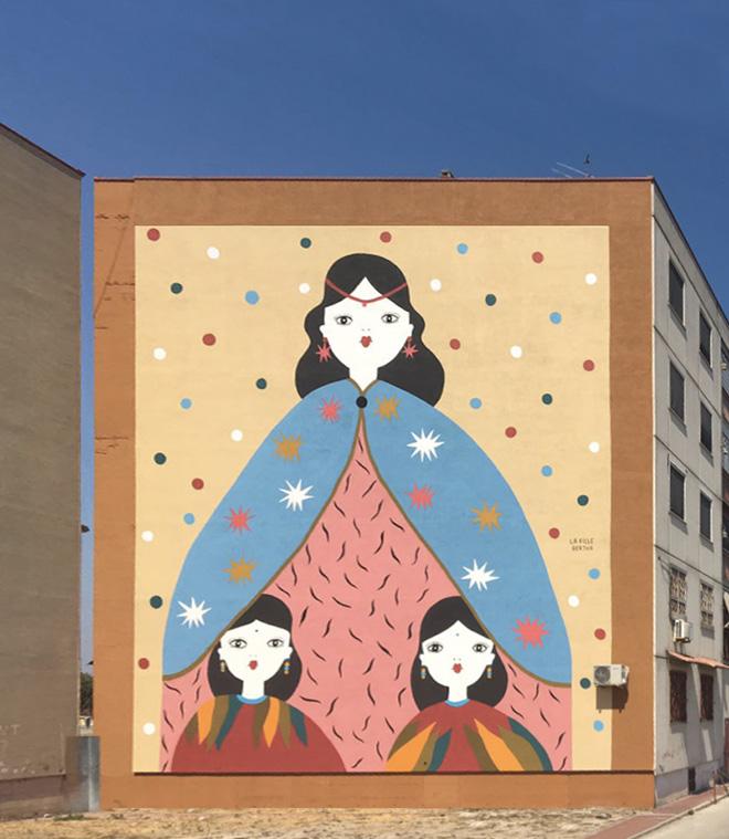 La Fille Bertha - A mamm' 'e tutt' 'e mamm', Parco dei Murales, Ponticelli, Napoli
